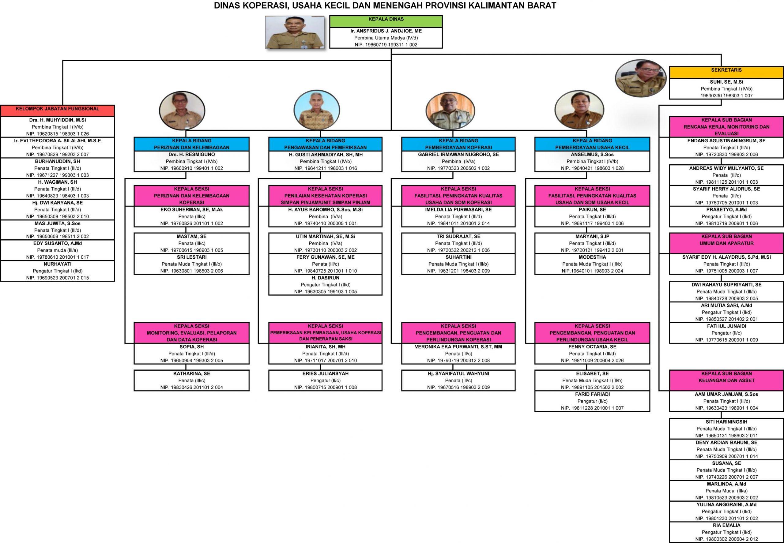 Struktur Organisasi Dinas Koperasi, Usaha Kecil dan ...